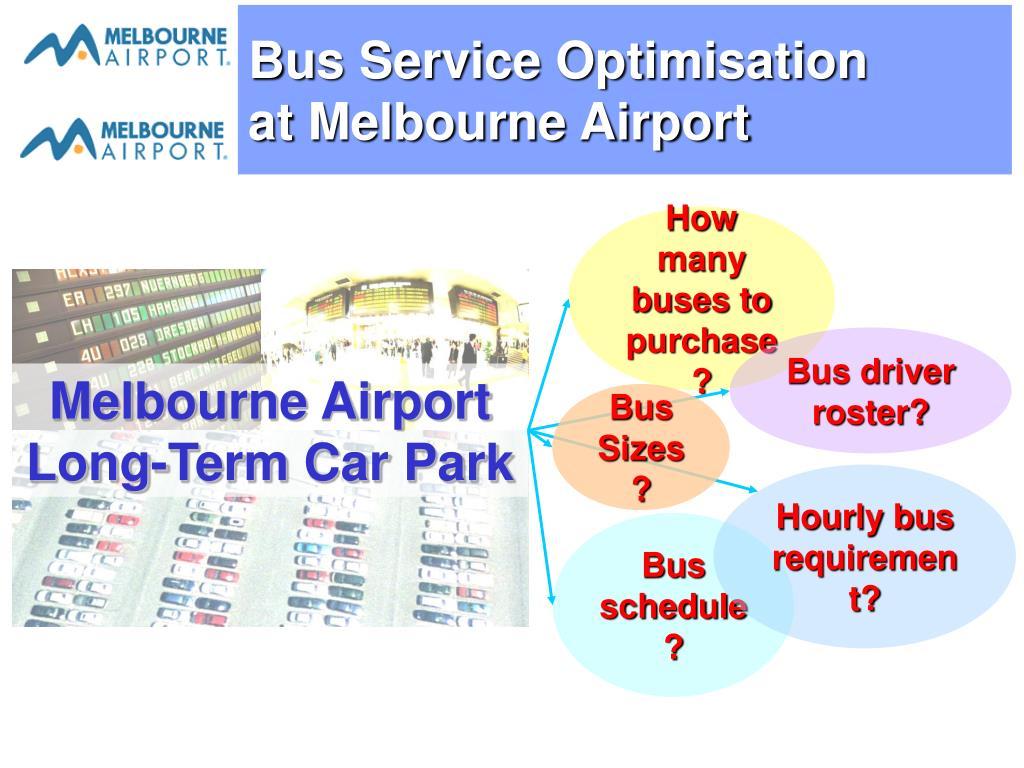 Bus Service Optimisation