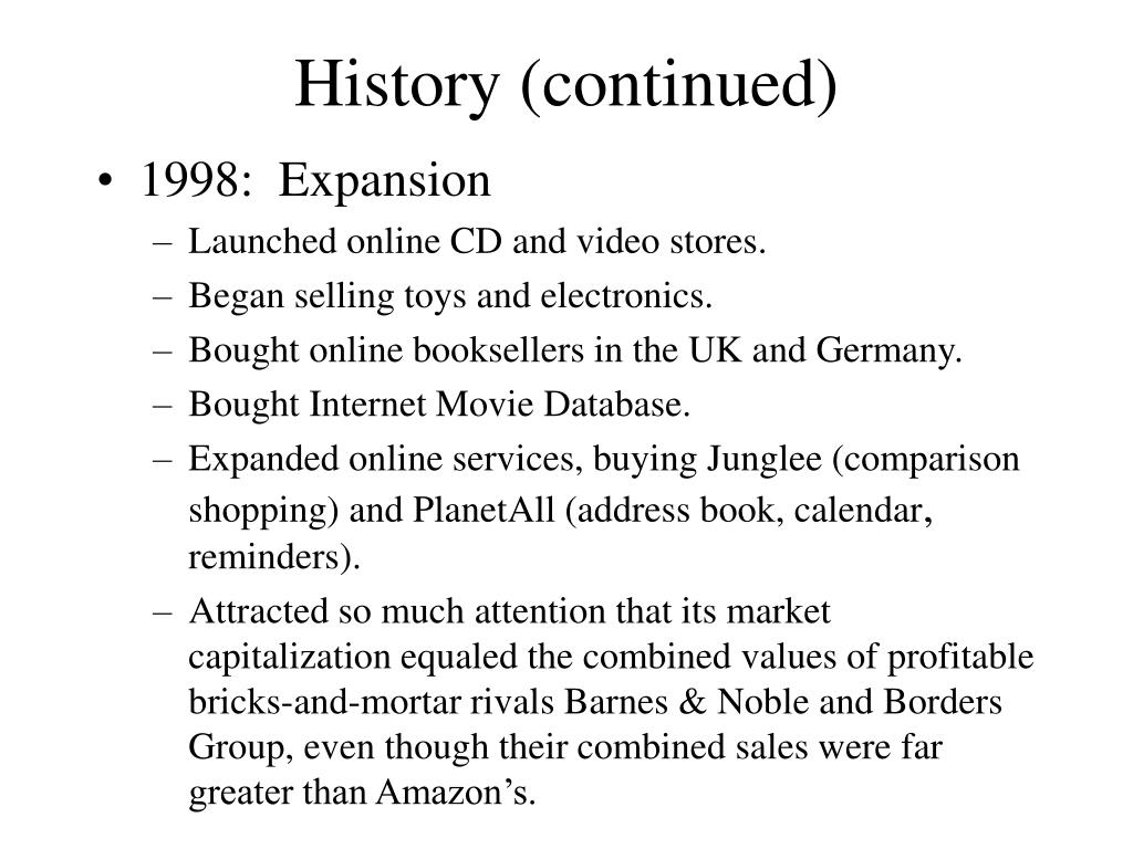 History (continued)