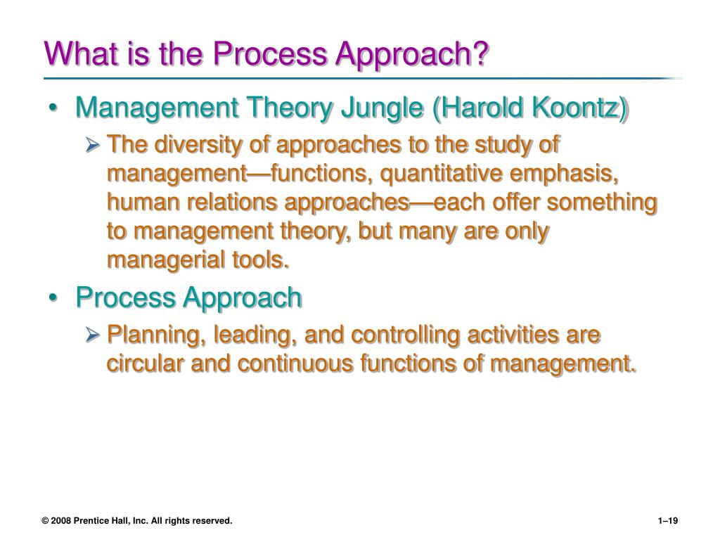 What is the Process Approach?