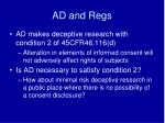 ad and regs
