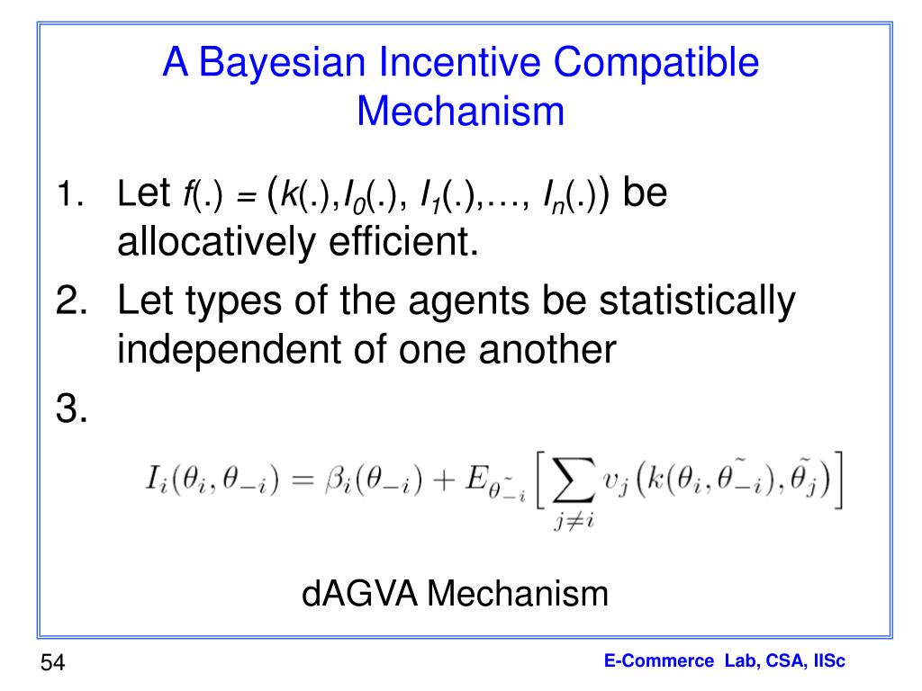 A Bayesian Incentive Compatible Mechanism