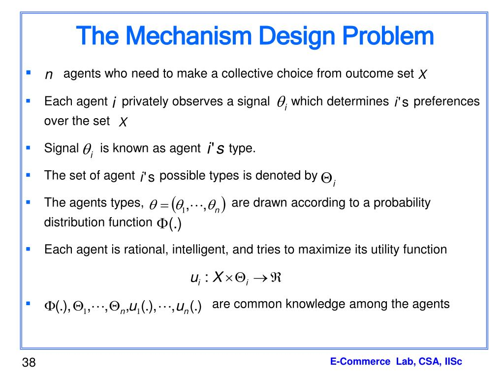 The Mechanism Design Problem