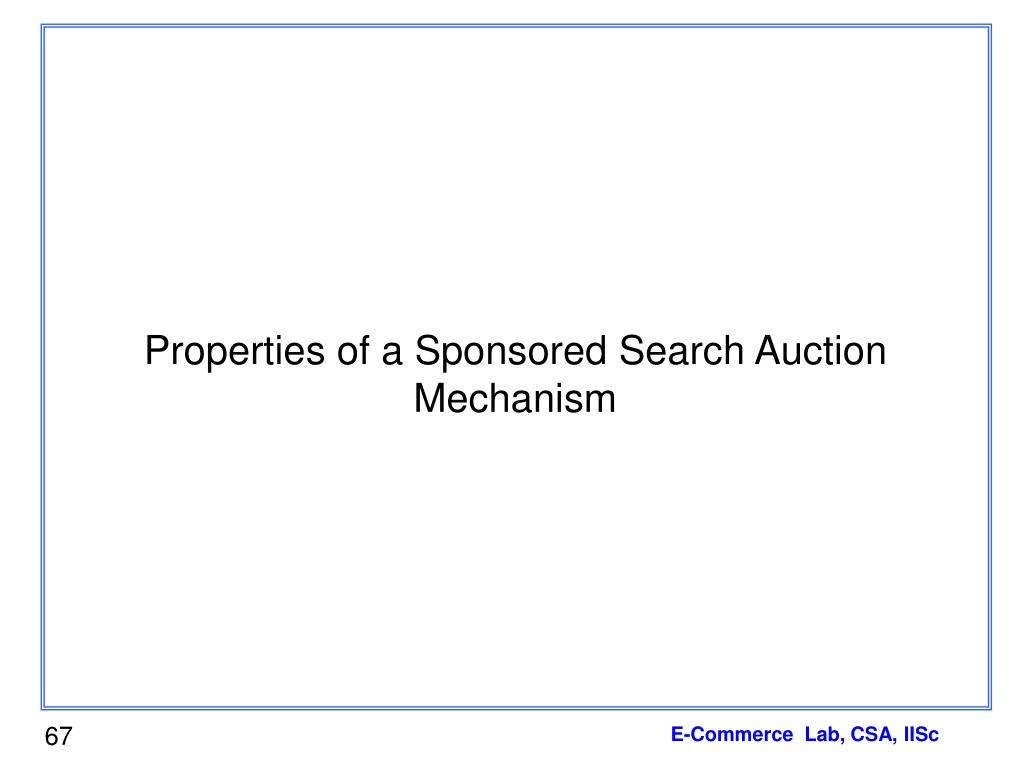 Properties of a Sponsored Search Auction Mechanism