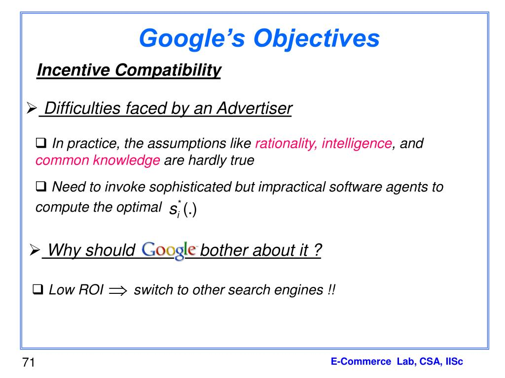 Google's Objectives