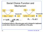 social choice function and mechanism