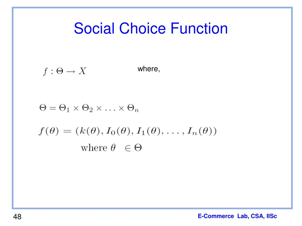 Social Choice Function