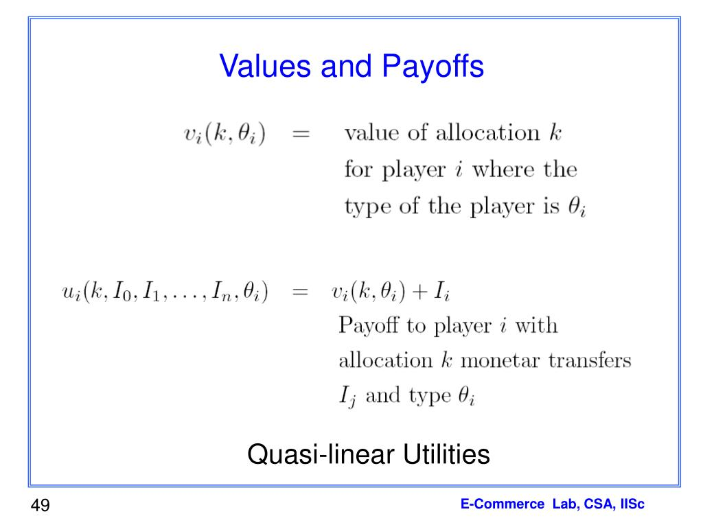 Values and Payoffs