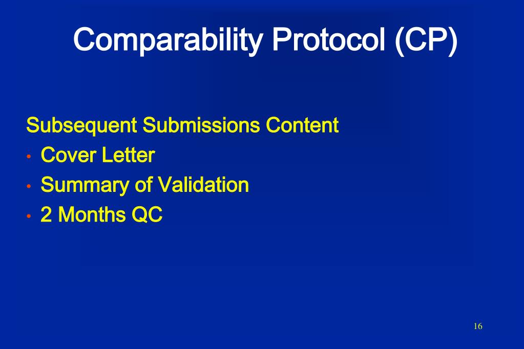 PPT Comparability Protocols PowerPoint Presentation ID