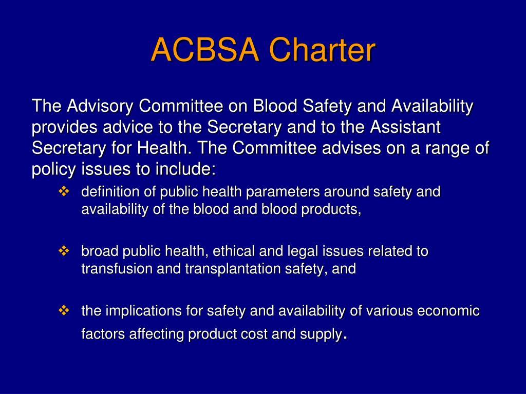 ACBSA Charter