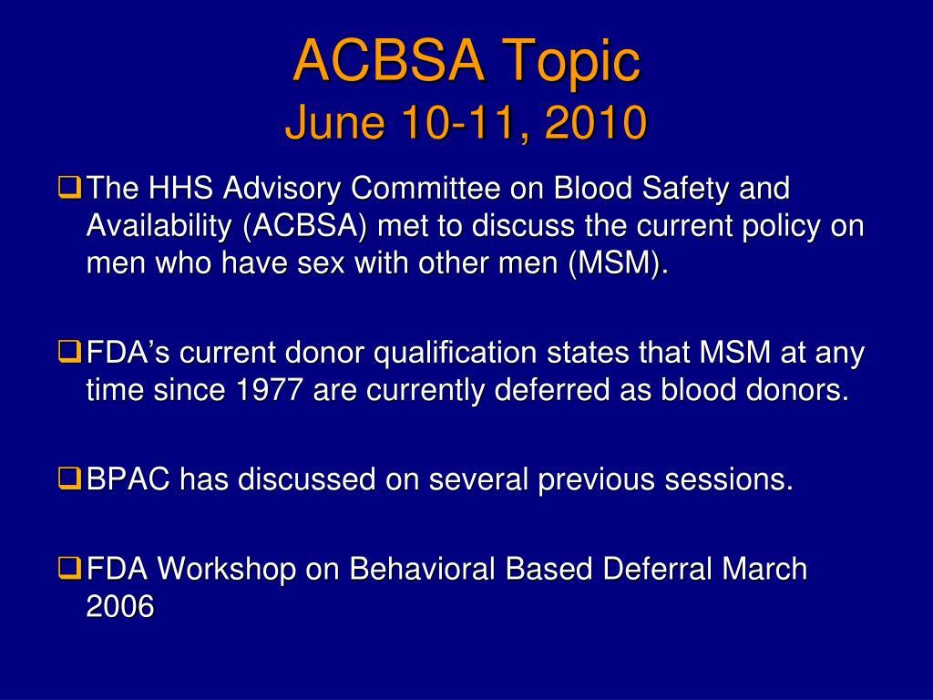 ACBSA Topic