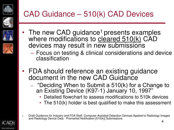 CAD Guidance – 510(k) CAD Devices