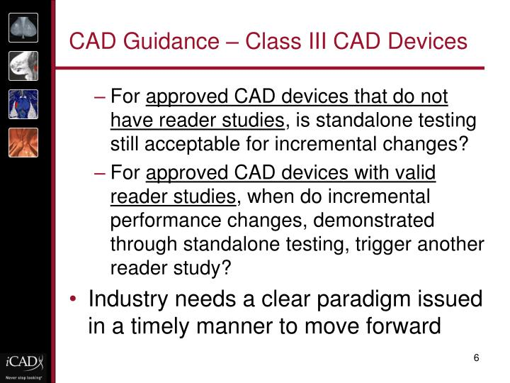 CAD Guidance – Class III CAD Devices