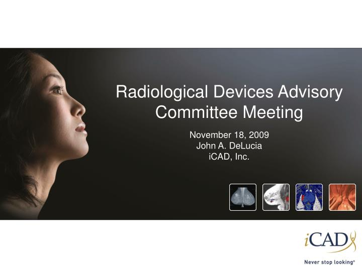 Radiological Devices Advisory Committee Meeting