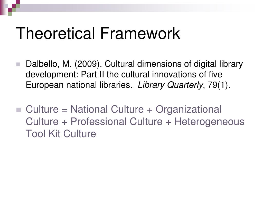 Logical structure or theoretical framework
