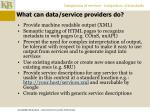 what can data service providers do