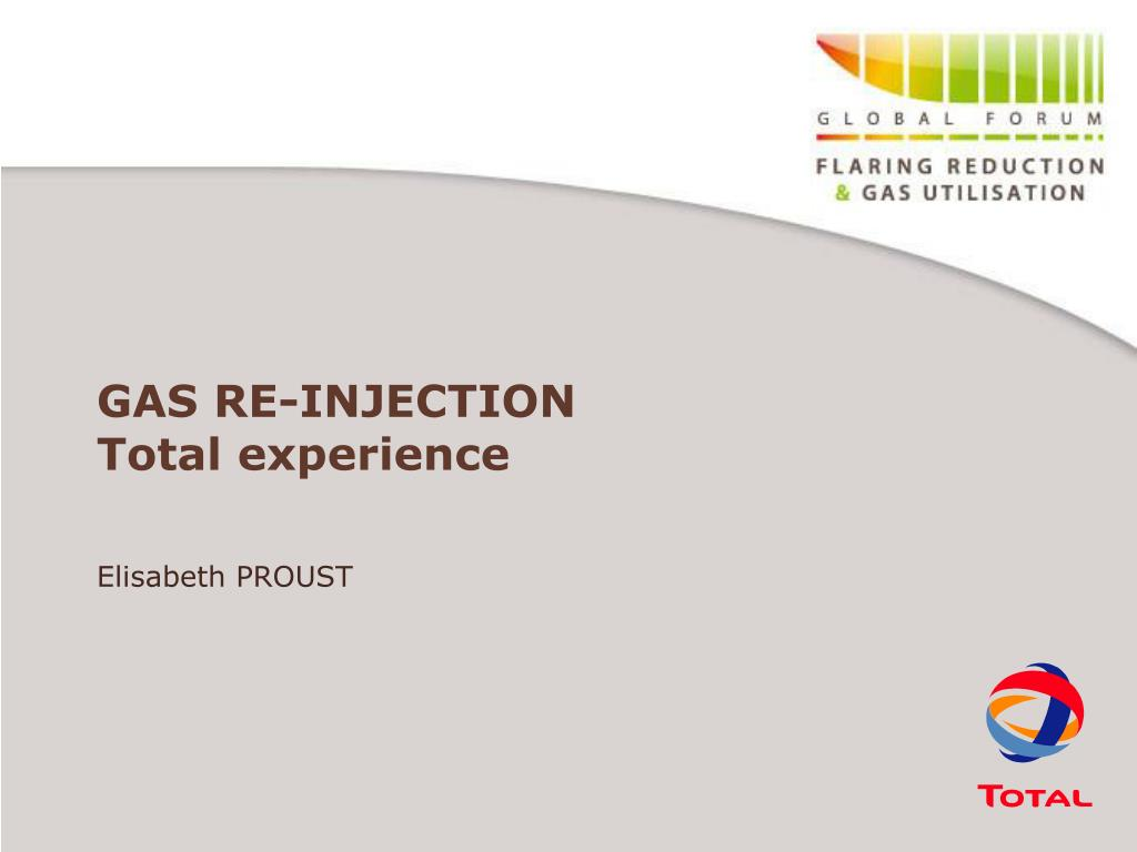 GAS RE-INJECTION