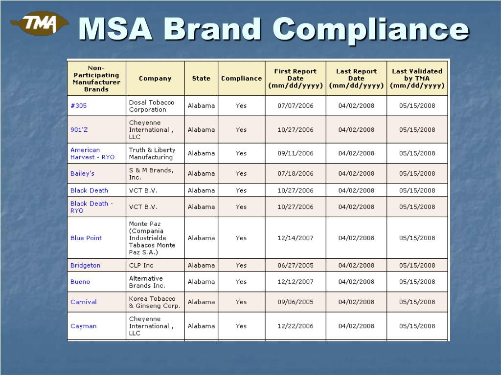 MSA Brand Compliance