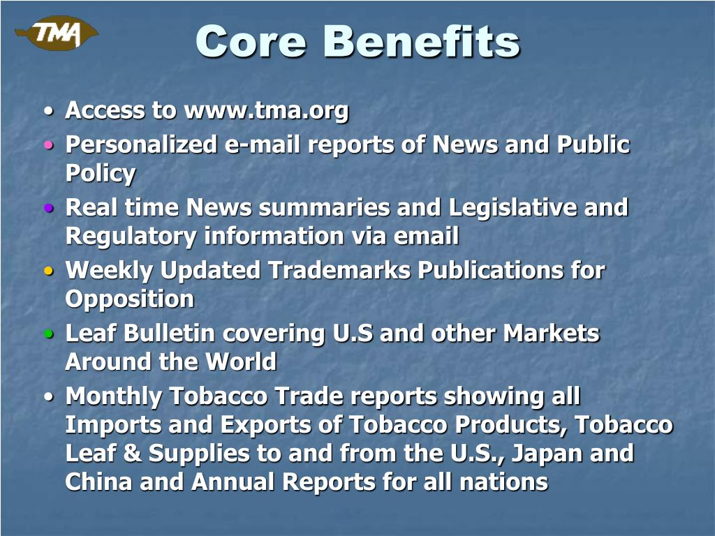 Core Benefits