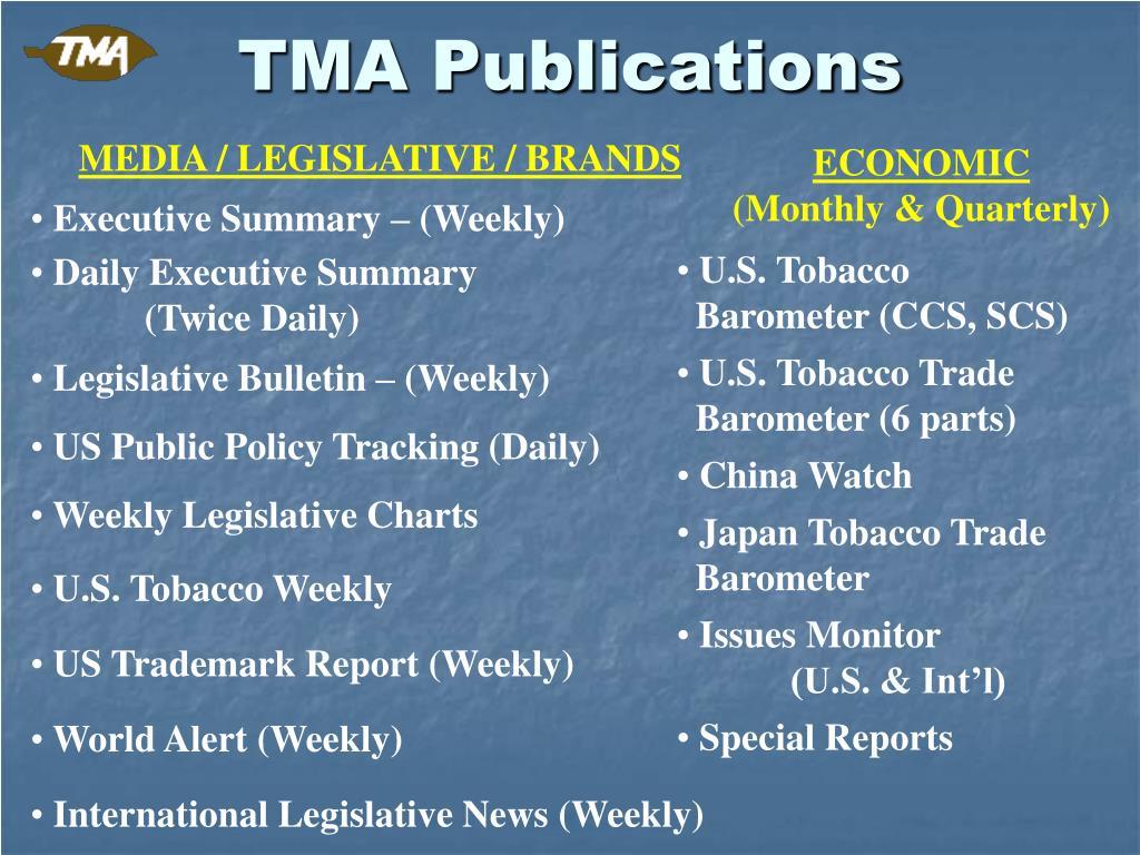 TMA Publications