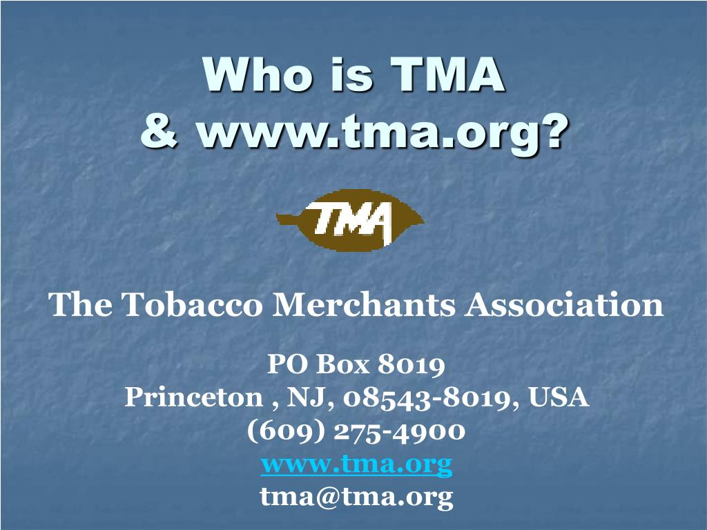 Who is TMA