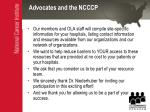 advocates and the ncccp