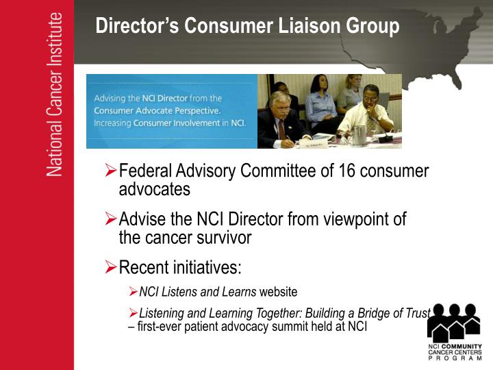 Director s consumer liaison group