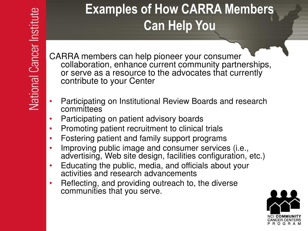 Examples of How CARRA Members