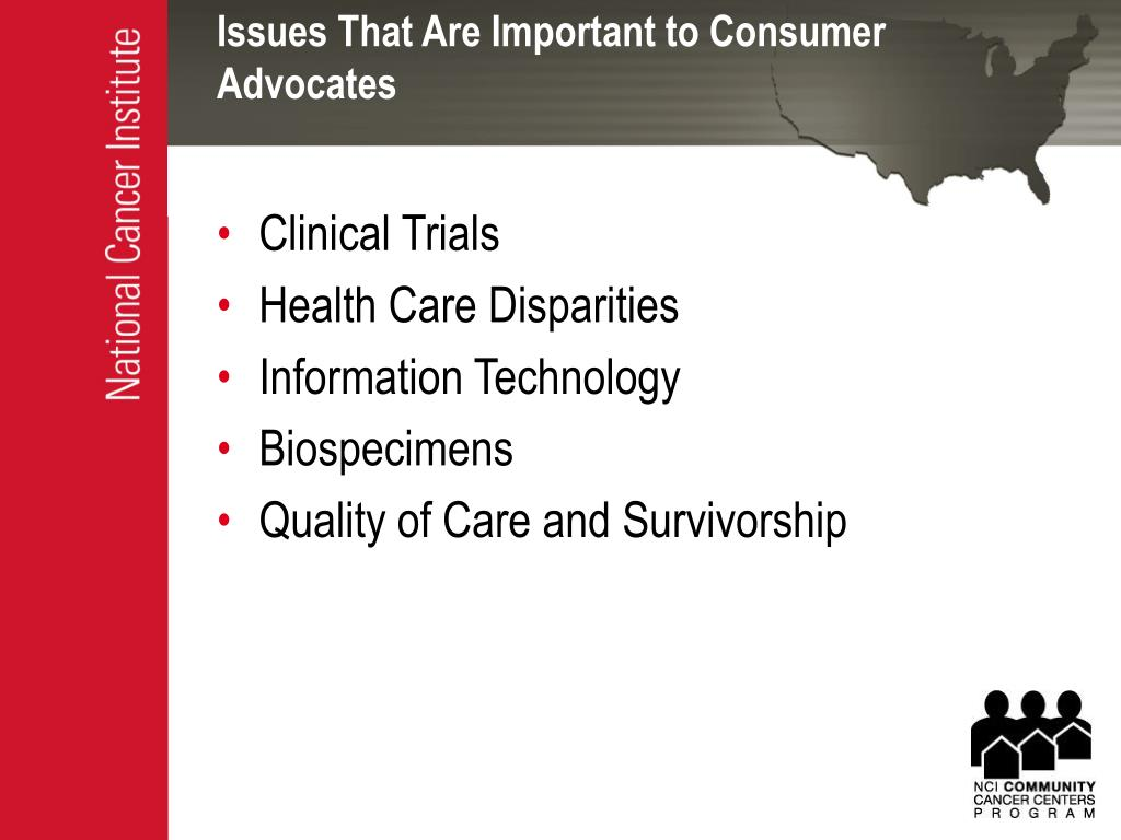 Issues That Are Important to Consumer Advocates