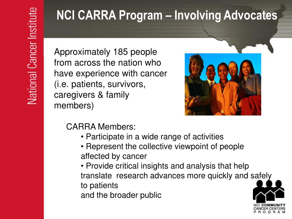 NCI CARRA Program – Involving Advocates