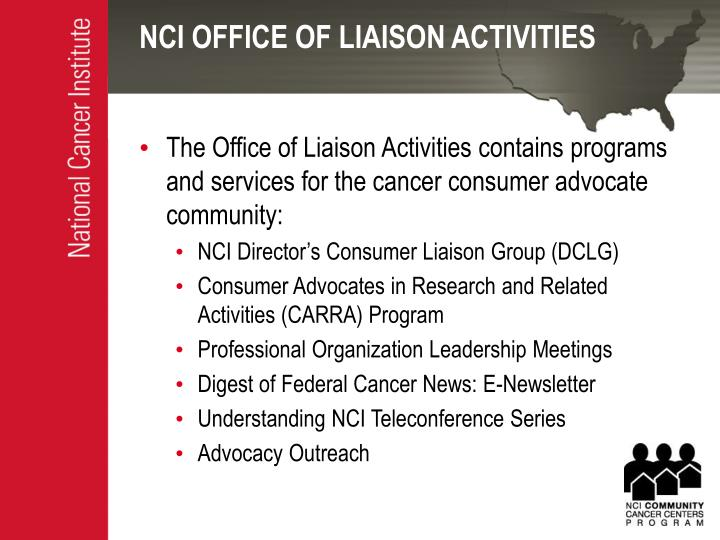 Nci office of liaison activities