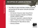 nci office of liaison activities