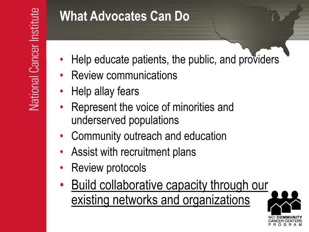 What Advocates Can Do