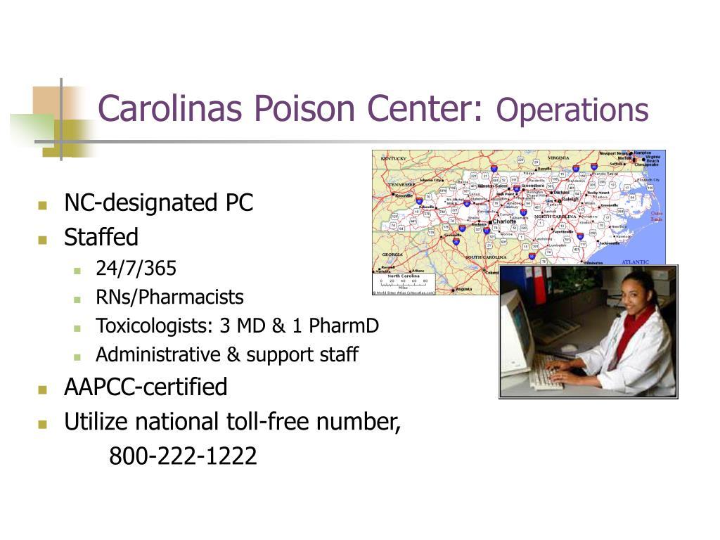 Carolinas Poison Center:
