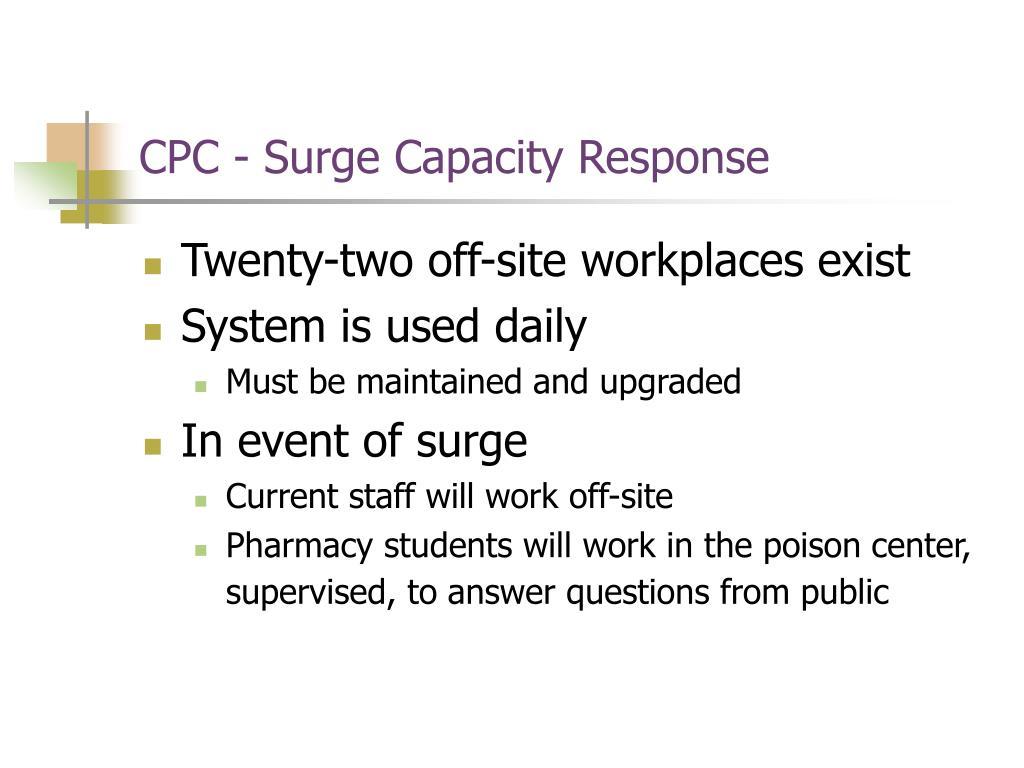 CPC - Surge Capacity Response