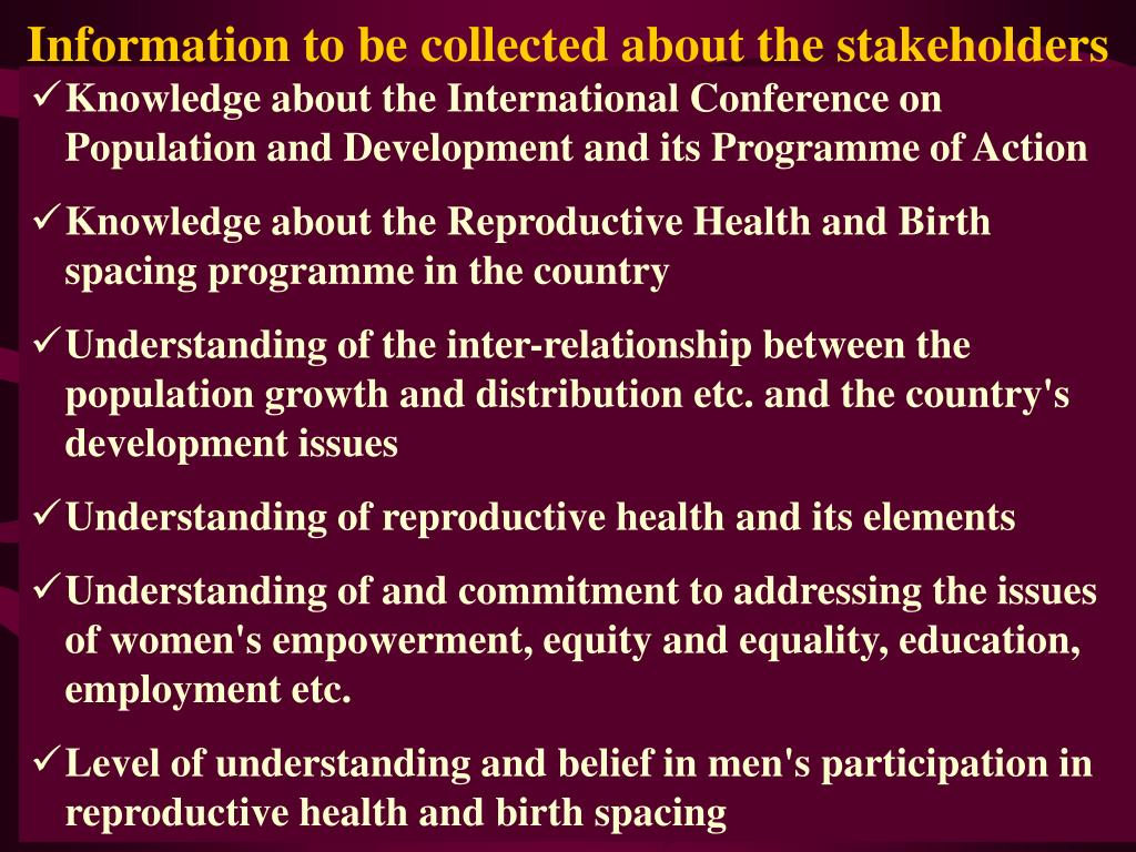 Knowledge about the International Conference on Population and Development and its Programme of Action