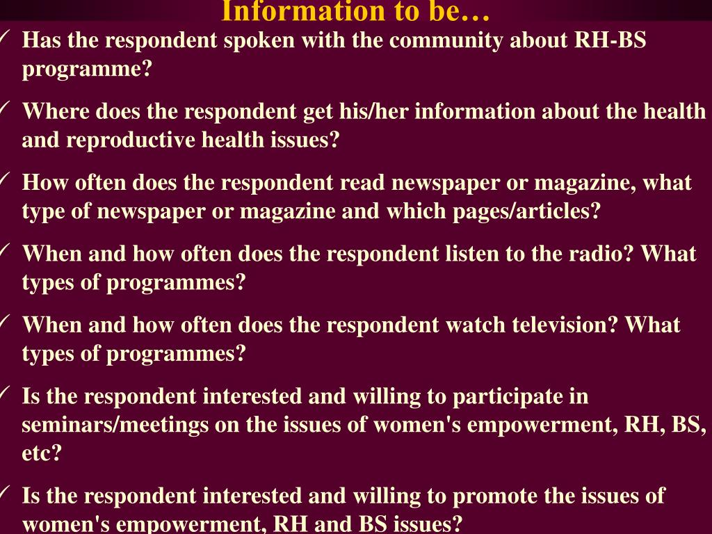 Has the respondent spoken with the community about RH-BS programme?