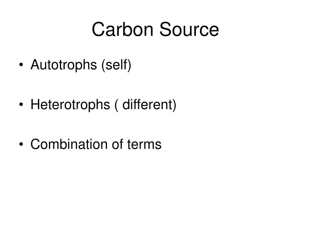 Carbon Source