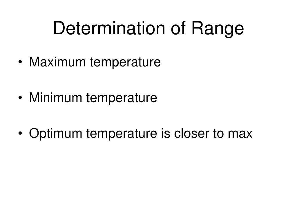 Determination of Range