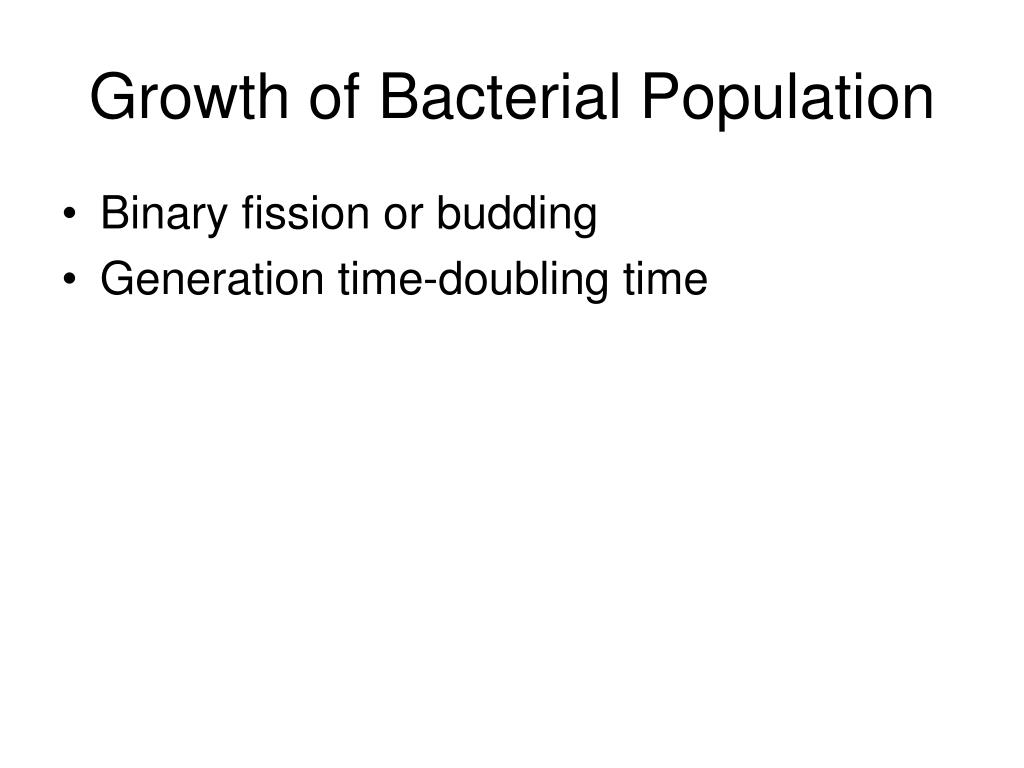 Growth of Bacterial Population