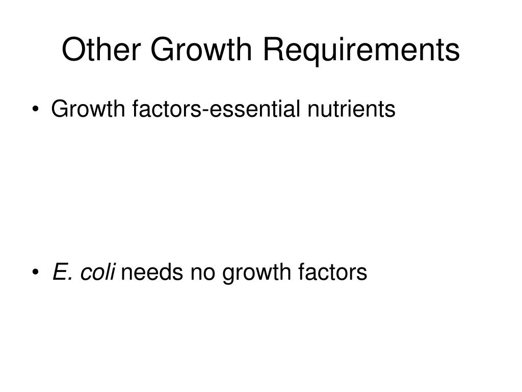 Other Growth Requirements