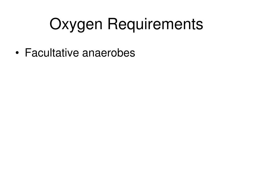 Oxygen Requirements