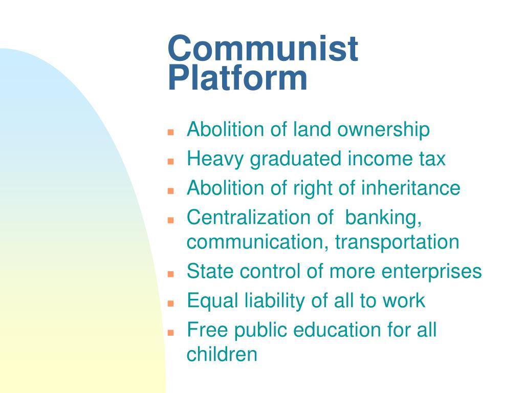 Communist Platform