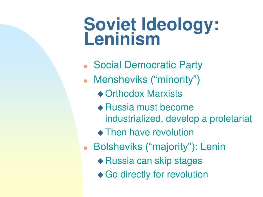 Soviet Ideology: Leninism