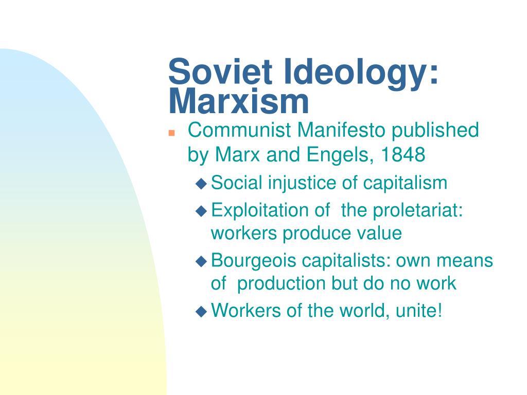 Soviet Ideology: Marxism