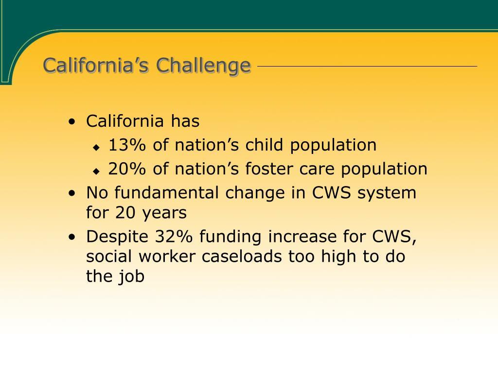 California's Challenge