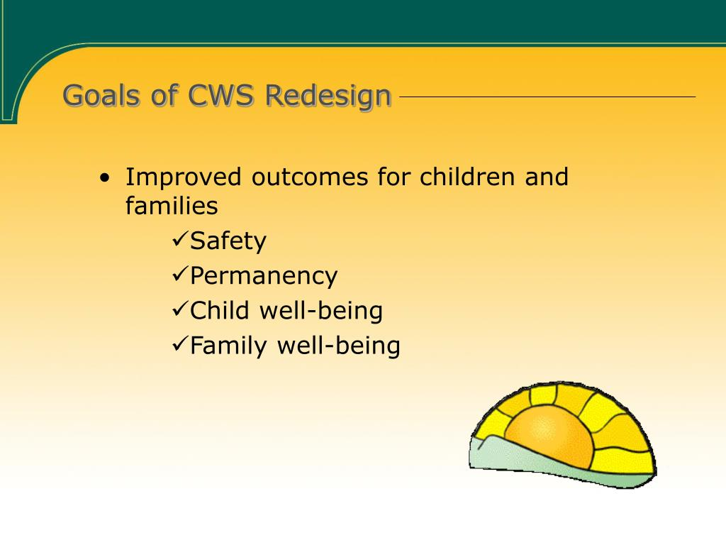 Goals of CWS Redesign