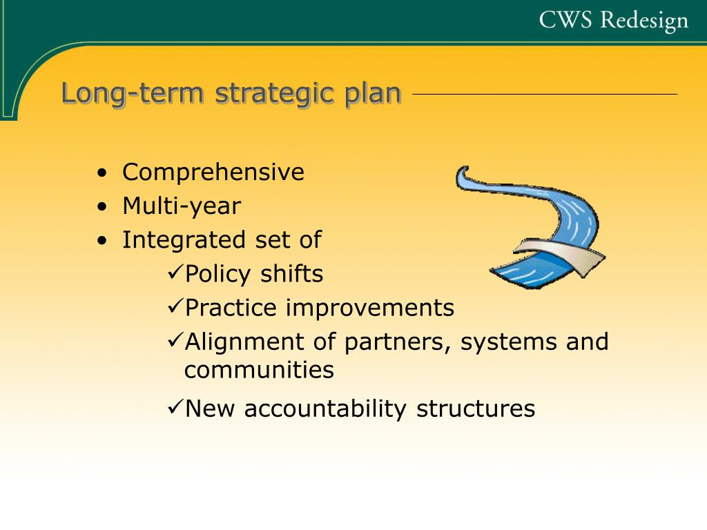 Long-term strategic plan