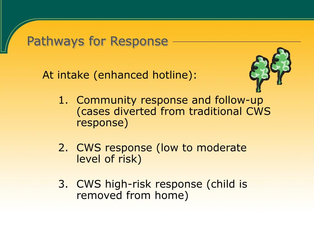 Pathways for Response
