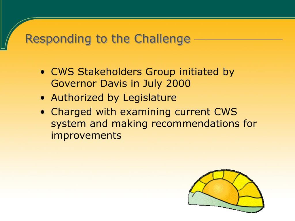 Responding to the Challenge