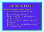 consequence examples